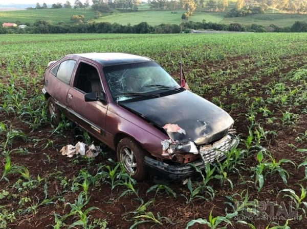 Carro com placas de Palotina se envolve em acidente com vítima fatal em Três Barras (Foto: PRE )