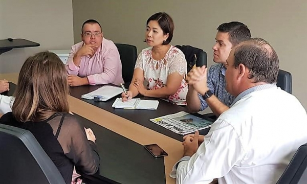 Reunião entre vereadores com o chefe da Casa Civil, Guto Silva, aconteceu hoje (14), em Toledo. (Foto: Assessoria)