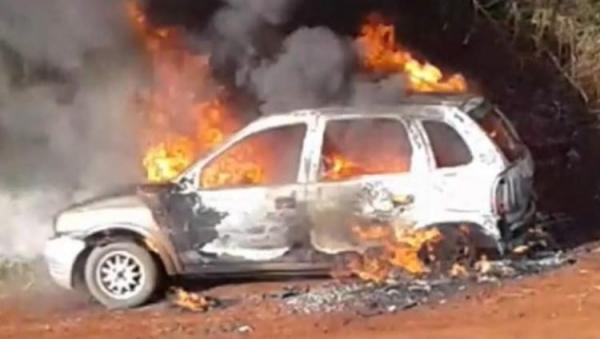 O crime ocorreu em uma estrada rural do município. (Foto: Rede Sul Notícias)